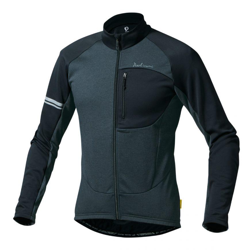 【7號公園自行車】PEARL IZUMI 3112-BL-1 15度冬季男性保暖長袖車衣(黑)