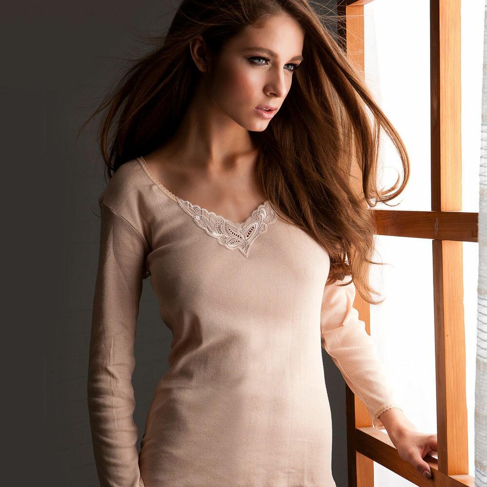 【AJM】《台灣製》 V領 輕薄棉家居保暖衣(3件組) 3