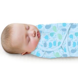 美國Summer Infant 聰明懶人純棉睡袋包巾-悠遊鯨魚【悅兒園婦幼生活館】