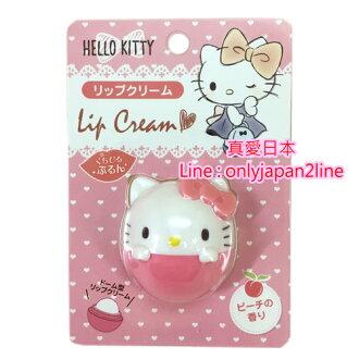 【真愛日本】16100100050造型香味護唇膏-KT水蜜桃   三麗鷗 Hello Kitty 凱蒂貓 唇膏 唇部保養 滋潤