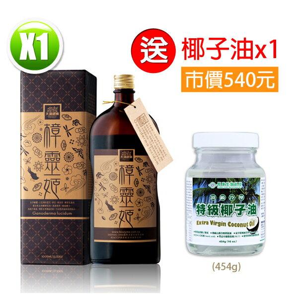【買1瓶送椰子油】大漢酵素 樟靈姬蔬果植物醱酵液(1000ml/瓶)x1