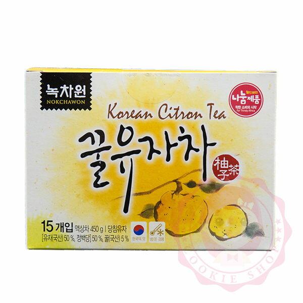 韓國Nokcbawon綠茶園蜂蜜柚子茶(30g*15)【庫奇小舖】