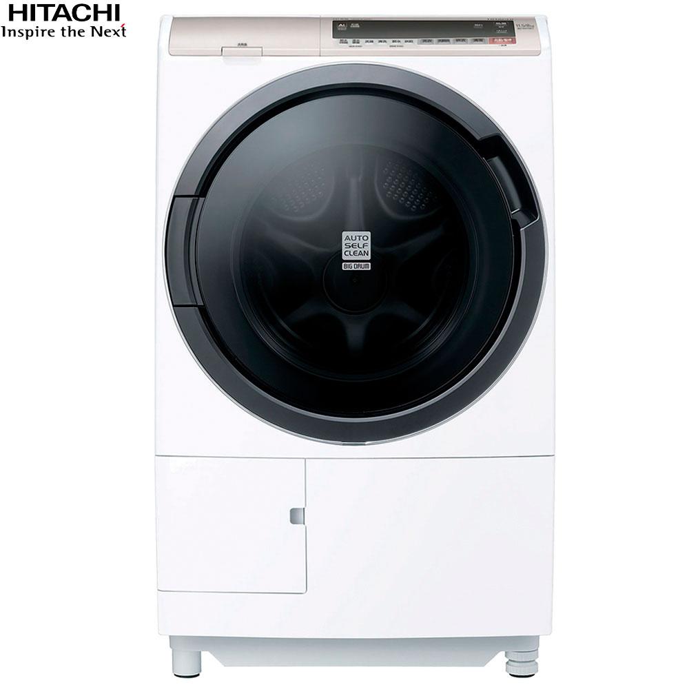 HITACHI 日立 BDSV115EJ 滾筒洗衣機 星燦白 洗衣11.5公斤/烘衣8公斤 AI智能洗滌