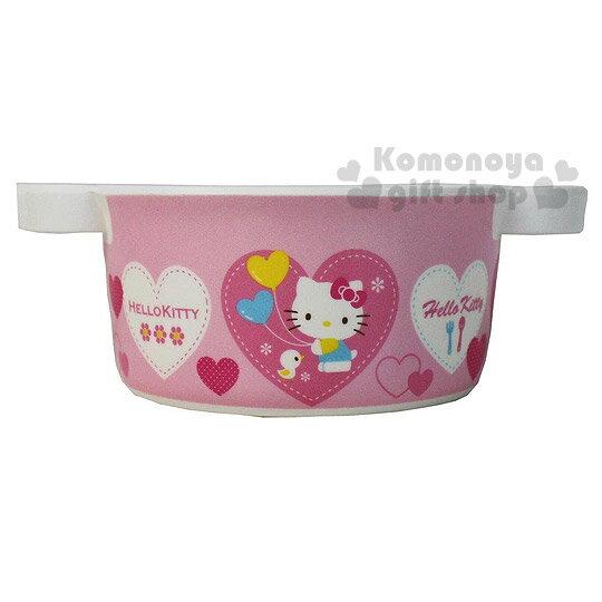 〔小禮堂〕Hello Kitty 美耐皿雙耳湯杯《粉.愛心氣球》輕巧可愛