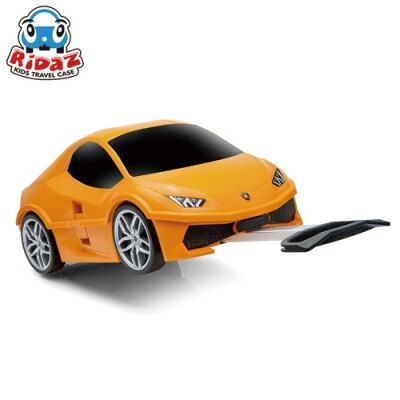 ※Ridaz 兒童跑車行李箱 Lamborghini Huracan藍寶堅尼(橘色)