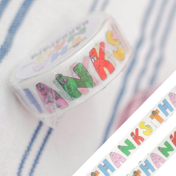 PGS7日本卡通系列商品-日貨泡泡先生BARBAPAPA紙膠帶【SHJ71627】