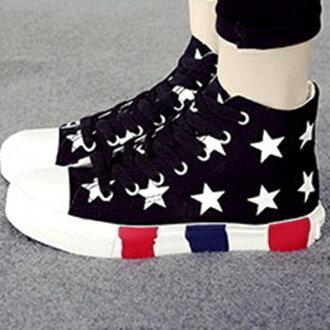 帆布鞋 休閒鞋-歐美流行青年休閒高筒平底女鞋子3色72ac25【獨家進口】【米蘭精品】