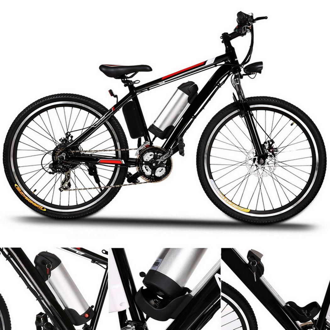 25 inch Wheel Aluminum Alloy Frame Mountain Bike Cycling Bicycle Black 2