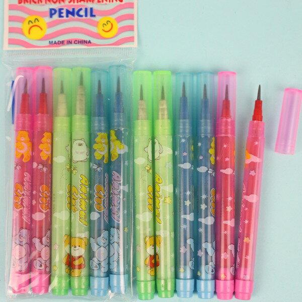 6入免削鉛筆子彈筆(短型6節)一袋12包入(一包6支)共72支入{定20}~5931