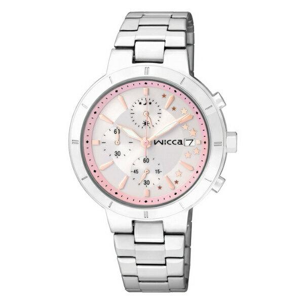 CITIZEN星辰WICCA(BM2-217-21)三環時尚典雅腕錶/粉紅面34mm
