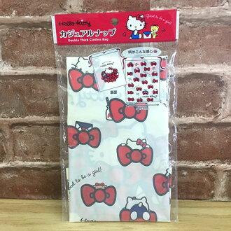 【真愛日本】17071400012 束口袋-KT蝴蝶結多圖 三麗鷗 kitty 凱蒂貓 收納包 化妝包