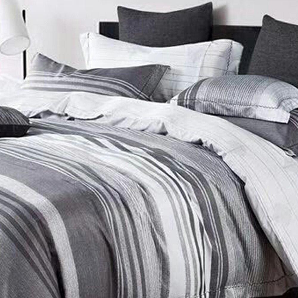 床包被套組  /  雙人【紳士品味】科技天絲 含兩件枕套 戀家小舖 好窩生活節 1