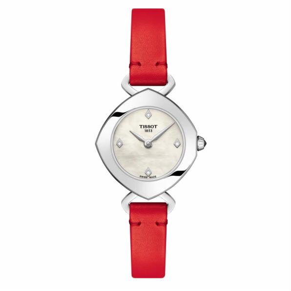 TISSOT天梭 T1131091611600 Femini-T系列 清秀佳人時尚腕錶 紅 24.8mm - 限時優惠好康折扣