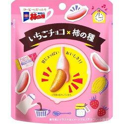 X射線【C932179】龜田製菓 草莓牛奶巧克力柿種米果,點心/零嘴/餅乾/糖果/韓國代購/日本糖果/零食/伴手禮/禮盒