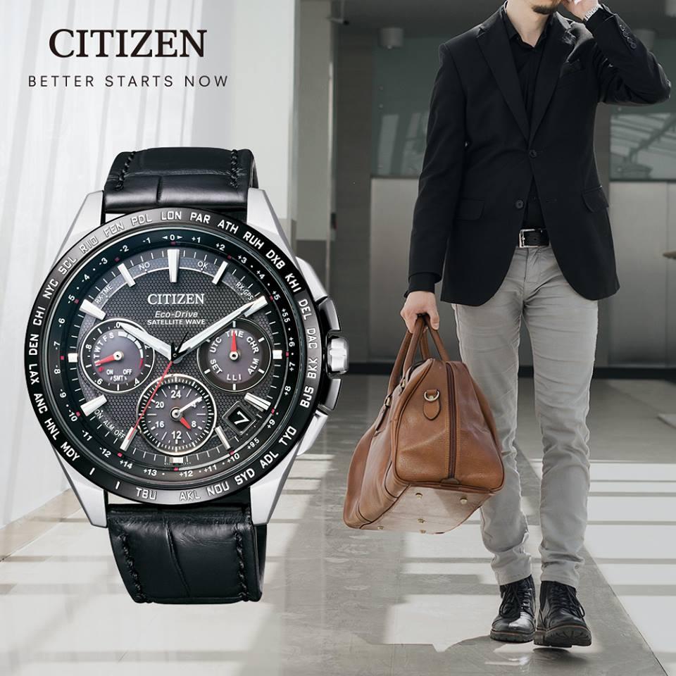Citizen 星辰 Eco~Drive 光動能 金城武廣告款GPS衛星鈦金屬計時腕錶 C