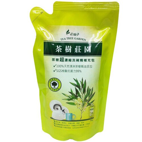 茶樹莊園茶樹超濃縮洗碗精補充包700g~愛買~