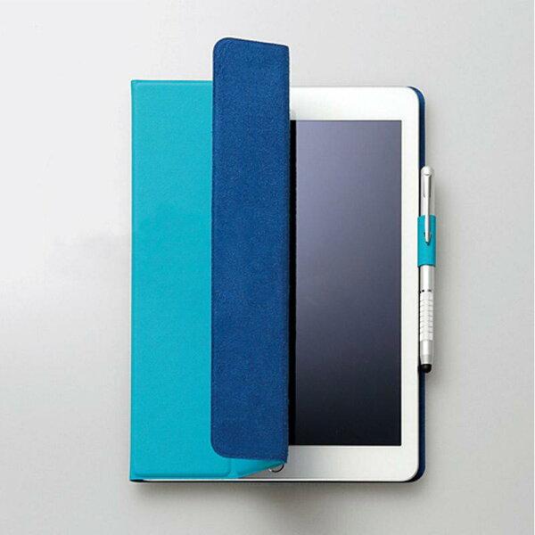 FENICE:【FENICE】超薄型黏貼式IPAD9.7吋保護皮套(土耳其藍)