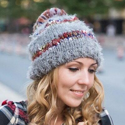 毛帽針織羊毛帽~ 簡約大方女帽子3色73id3~ ~~米蘭 ~