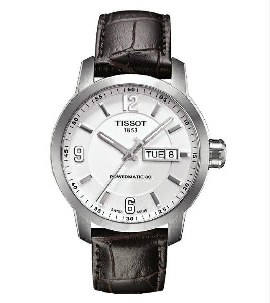 TISSOT天梭T0554301601700  PRC200動力儲存80小時機械腕錶/白面39mm