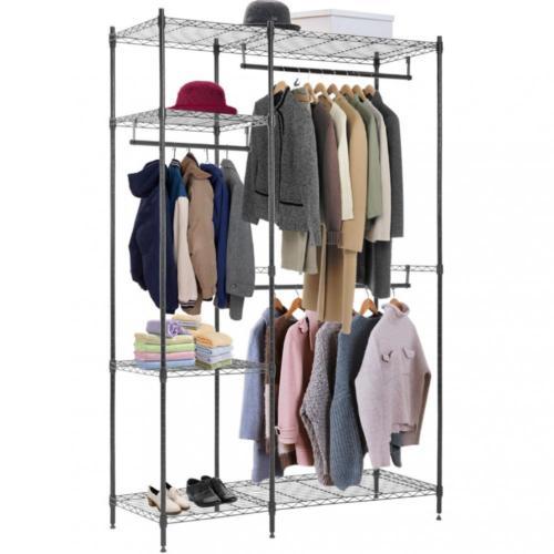 5-Shelf Hanging Closet Organizer Heavy Duty Hanger Storage for clothing /& Shoes