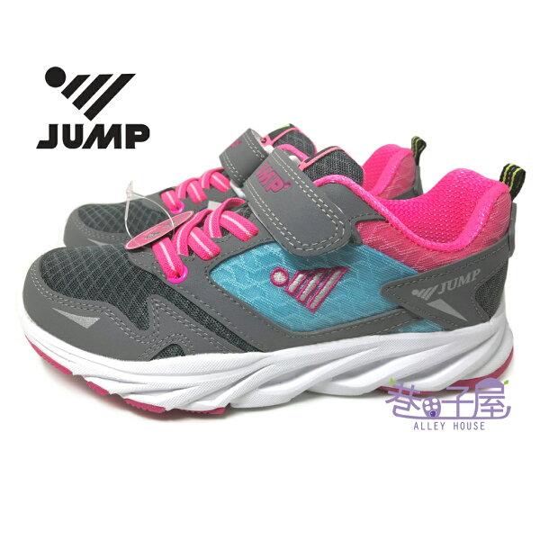 巷子屋:【巷子屋】JUMP將門女童流線超輕防臭運動慢跑鞋[362]灰粉超值價$498【單筆消費滿1000元全會員結帳輸入序號『CNY100』↘折100】
