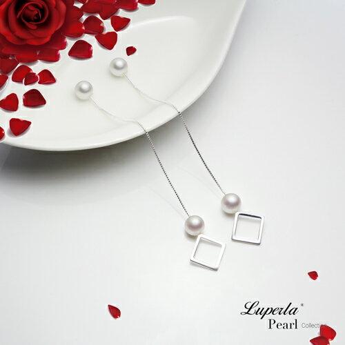大東山珠寶 燦爛光芒 日本AKOYA天然海水珍珠純銀耳環 雙珠耳線兩用款 2