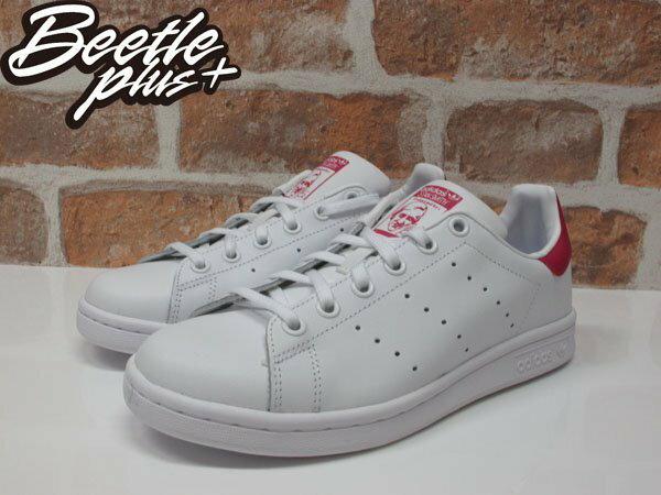BEETLE PLUS ADIDAS ORIGINALS STAN SMITH 白桃紅 皮革 復古 休閒運動鞋 女鞋 AQ3499 B32703 1