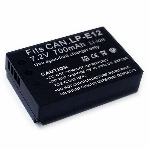 Canon LP-E12 LPE12 相機電池 700mAh - LPE12 EOS M 100D
