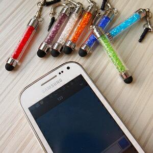 水晶觸控筆 短  3.5mm防塵塞 適用 Apple HTC SAMSUNG 平板電腦 手機電容式觸控筆 電容筆 觸碰筆 手寫筆