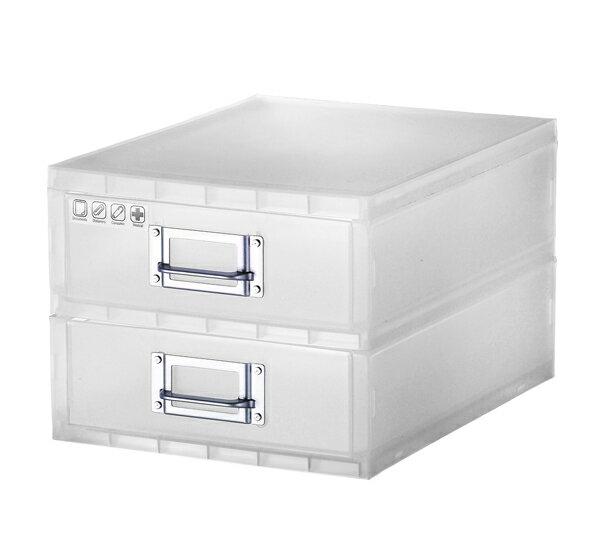 Sysmax 56018 IBOX雙抽屜收納盒
