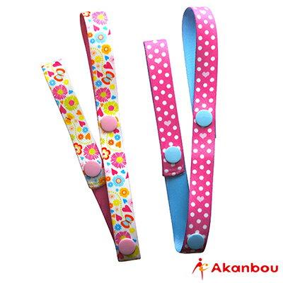 【悅兒樂婦幼用品?】Weicker 唯可 akanbou 日本製玩具吊帶2入組-花樣粉點