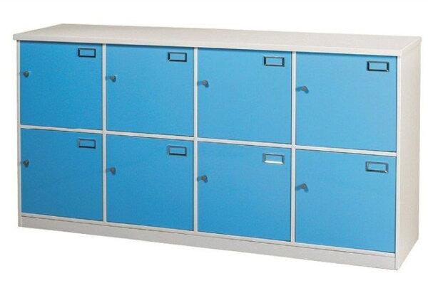 【石川家居】924-03(藍白色)八格門置物櫃(CT-804)#訂製預購款式#環保塑鋼P無毒防霉易清潔