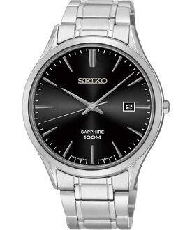 Seiko 7N42-0FW0D(SGEG95P1)藍寶石水晶玻璃簡約腕錶/黑面40mm
