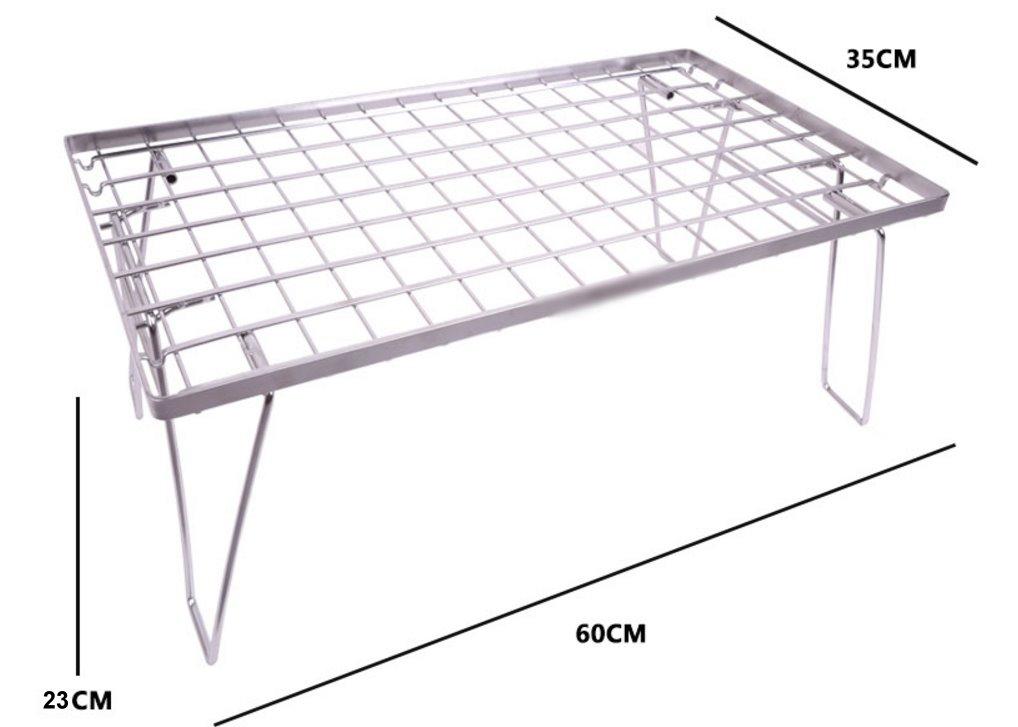 居家露營戶外 鐵網架折疊桌 摺疊網架 摺疊置物網架 可堆疊置物架 料理架 多功能爐架