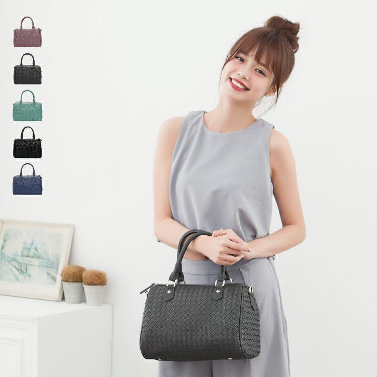 側背包 女包 經典編織系列 休閒氣質款二用手提包 89.Alley ☀5色 0