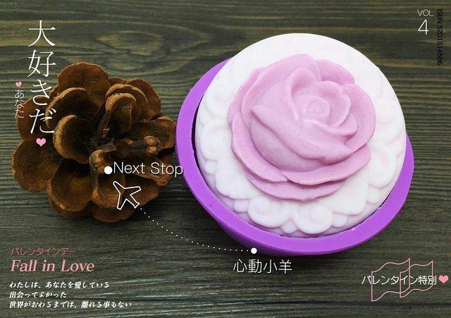 心動小羊^可愛浮雕玫瑰皂模 可愛矽膠模具 矽膠皂模 手工皂模具