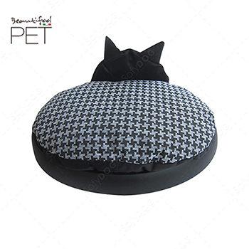BEAUTIFOOL小睡貓立體雙層睡床(黑底)