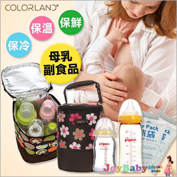 母乳儲存袋奶瓶保冷袋 副食品保溫袋吸乳器擠乳器COLORLAND送冰寶2片-JoyBaby