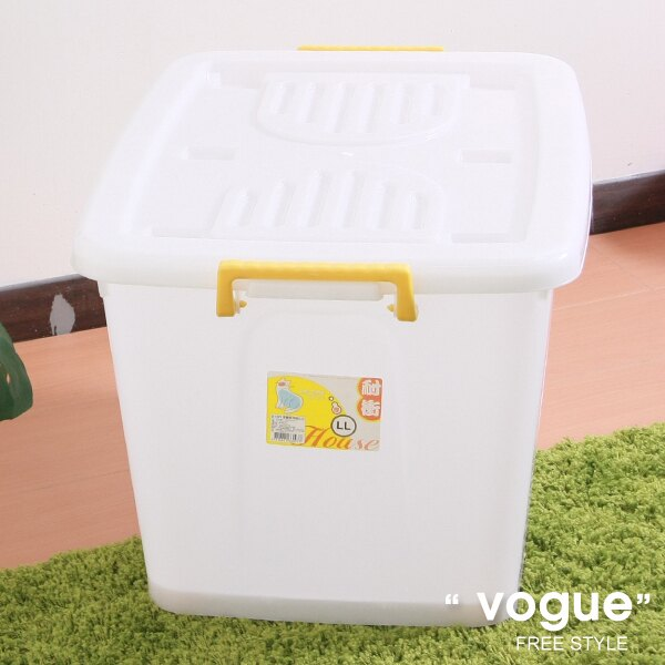 E&J【660015】Mr.box免運費,D1201滑輪整理箱LL110L(3入) 收納箱/收納袋/衣櫃/衣櫥
