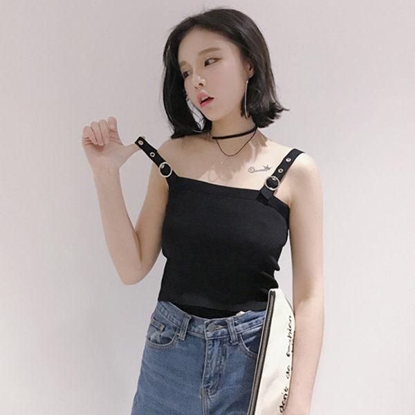 PS Mall 春秋女裝 百搭修身短款外穿針織背心 上衣~T186~