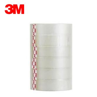 3M 透明膠帶 ( 24mm x 40y ) #502-6PK 筒裝OPP膠帶