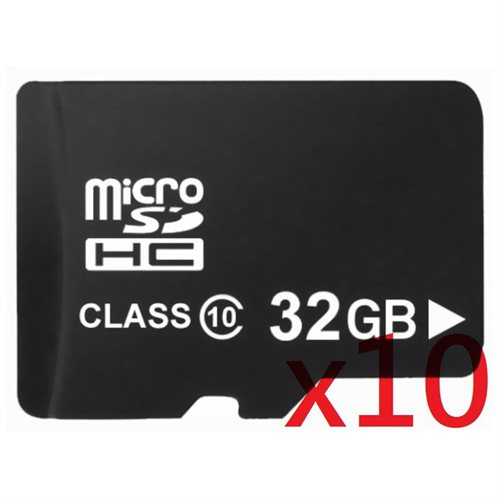 WholeSale 10 piece OEM 32GB 32G microSD microSDHC UHS-I Class 10 micro SD SDHC C10 TF Flash Memory Card + SD Adapter 0