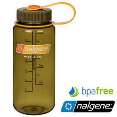 【Nalgene 美國】寬口水壺《橄欖》運動水壺 水瓶 隨身水壺 (2178-2068) 【容量500ml】