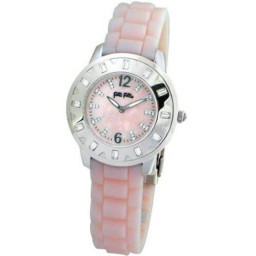 Folli Follie 華麗晶鑽亮彩腕錶  粉紅色  WF6A018SSP
