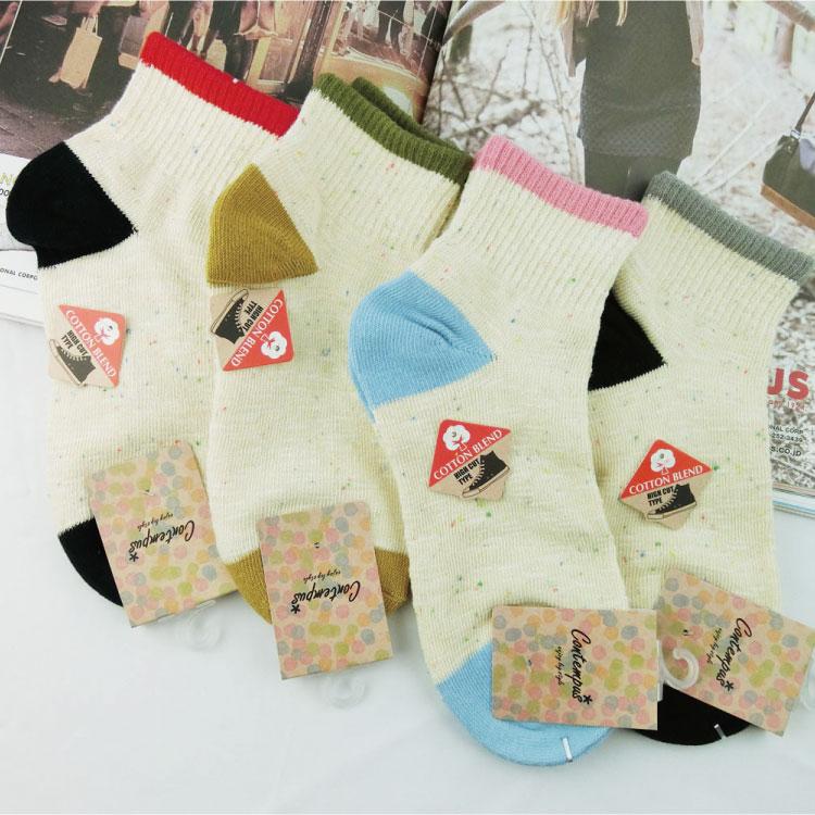 襪子 短版簡約色塊 球鞋 SEIO  簡約撞色色塊 簡約短版 細條紋 襪子  5色