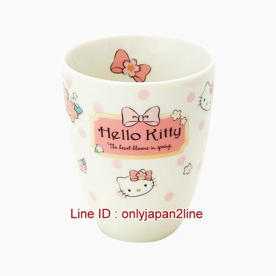 【真愛日本】4901610191088 日本製陶瓷茶杯-KT 三麗鷗 Hello Kitty 凱蒂貓 茶杯 水杯