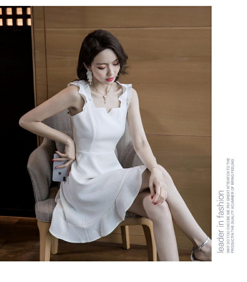 《全店75折》高雅浪漫氣質顯瘦連衣裙細肩帶洋裝(S-XL,3色)- 梅西蒂絲(現貨+預購)