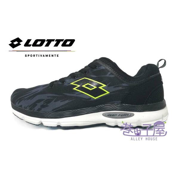 【巷子屋】義大利第一品牌-LOTTO樂得男款都市輕跑迷彩超輕量氣動跑鞋[5760]黑深灰超值價$690