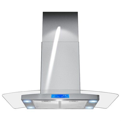 "Akdy NEW 36"" European Style AK-668is2 Stainless Steel Island Mount Range Vent Hood 0"