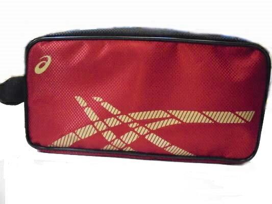 [陽光樂活=] ASICS 亞瑟士 運動鞋袋 紅底金Logo Y31522-2390